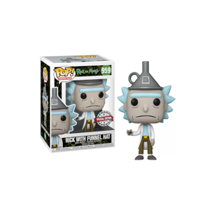 Funko POP! #959 Animation: Rick & Morty S7- Rick w/Funnel Hat (Special Edition)