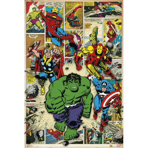Plakát Marvel Comics - Here Come The Heroes 018