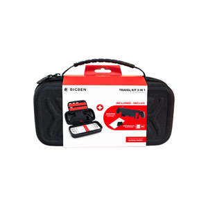 Travel Kit 3 In 1 ( Case + Tempered Glass + GripStand )